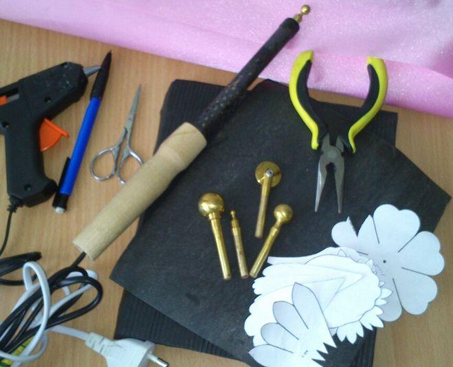 Инструмент для изготовление цветов из ткани своими руками