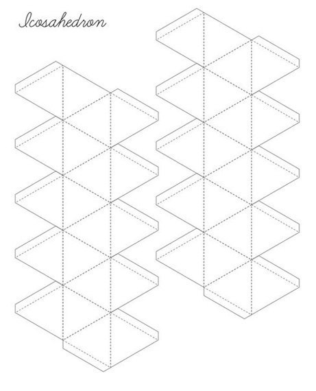 объемные фигуры схема шаблон