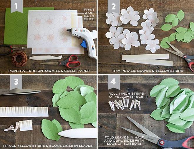 Как сделать ветку своими руками из бумаги