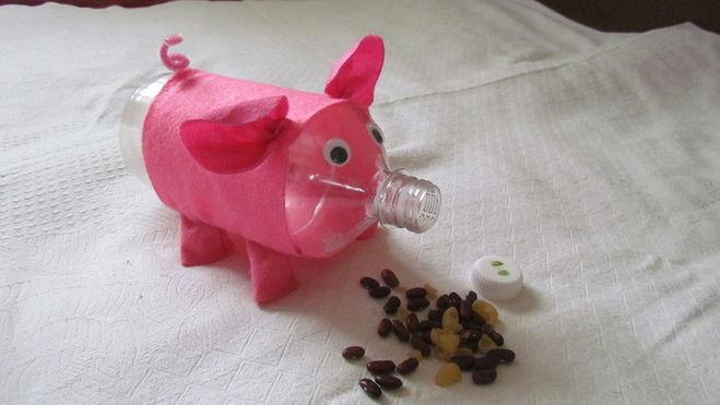 Как сделать из пластиковых бутылок свинья 921
