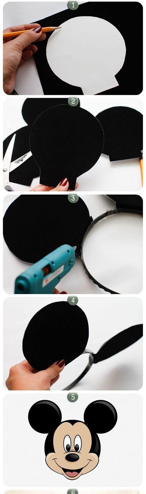 Как сделать уши микки мауса своими руками фото 626
