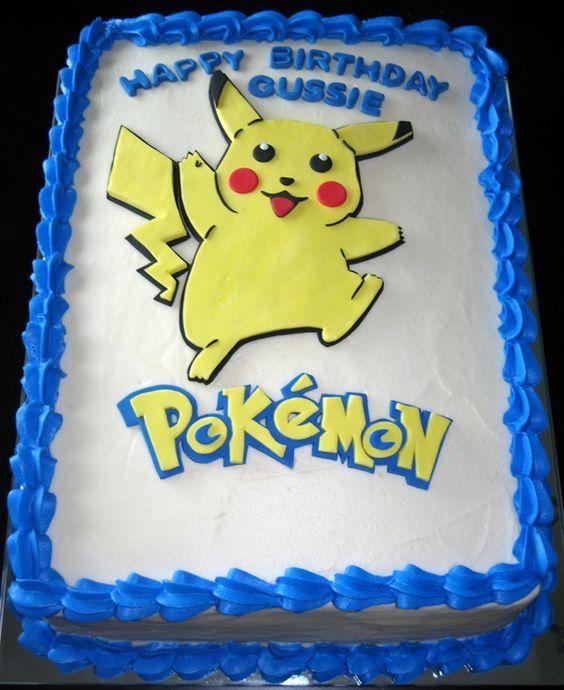 торт Покемон Пикачу с мастикой