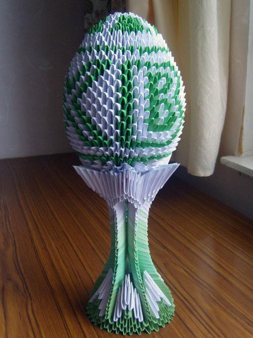 Модульный оригами пасхальное яйцо
