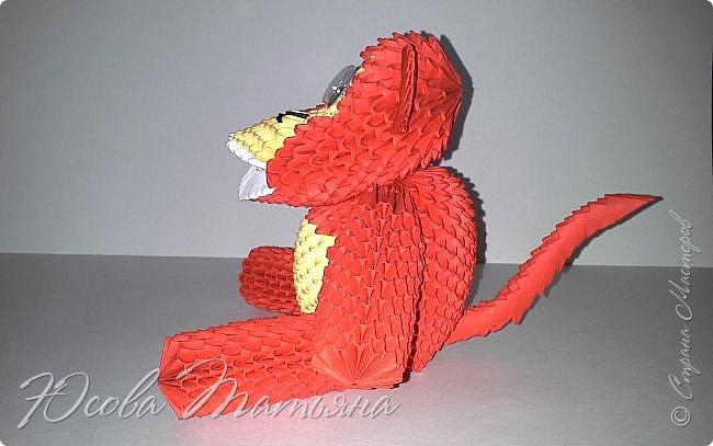 Модульная оригами обезьяна схема сборки страна мастеров