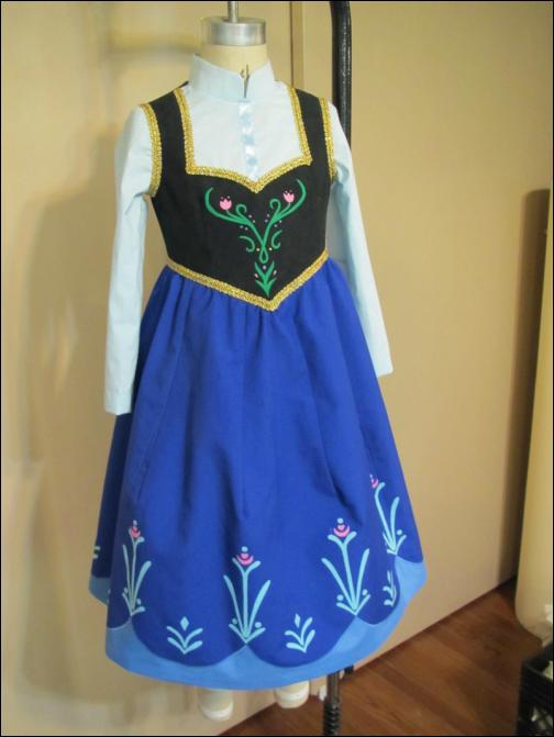 Ледяной костюм Эльзы из «Холодного сердца как сшить