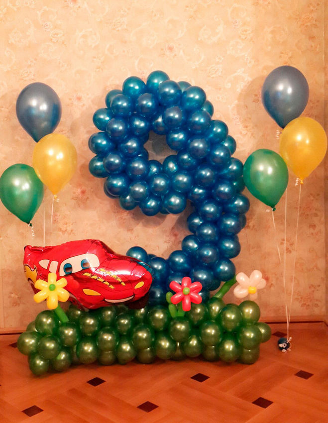 Как сделать 9 из шариков
