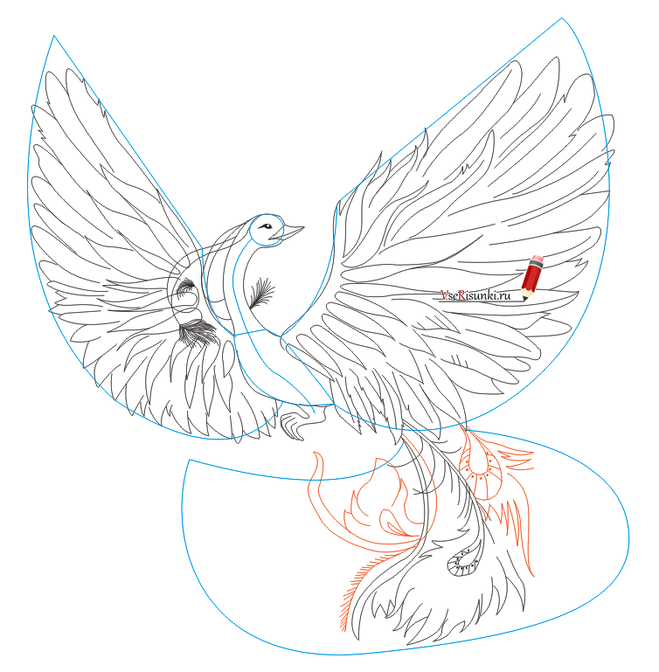 рисуем птиц в схемах