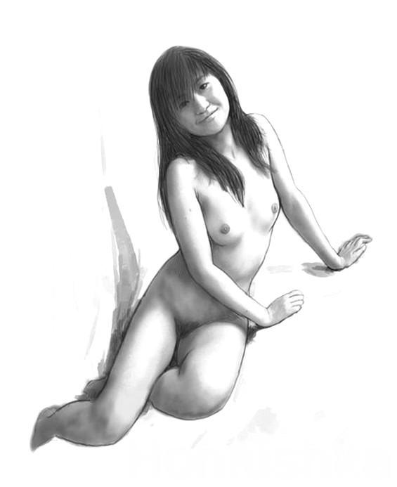 Фото голой нарисованной девушки