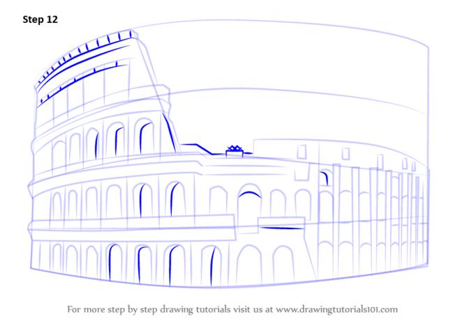 как нарисовать колизей11