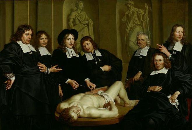 текст при наведении - «Урок анатомии Фредерика Рюйша» (худ. Адриан Баккер, 1670)