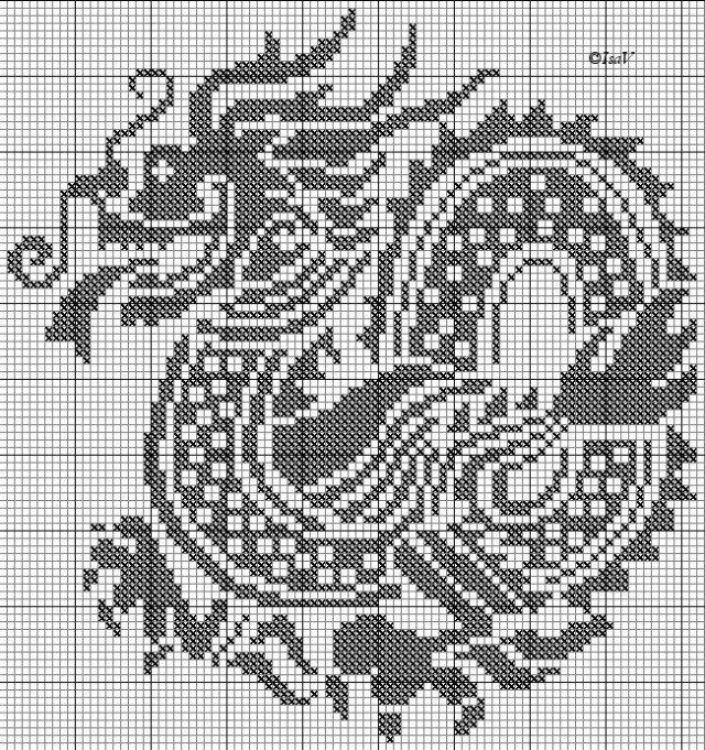 Вязание схемы драконы
