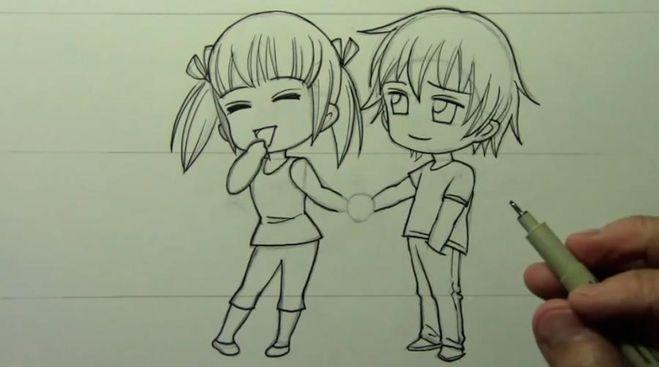 Самый простой рисунок аниме
