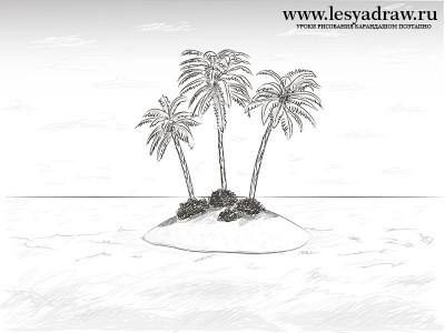 Как нарисовать пустыню 4 класс картинки
