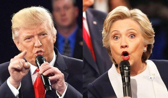 Хиллари и Трамп, количество голосов у Хиллари больше, Трампу не быть президентом