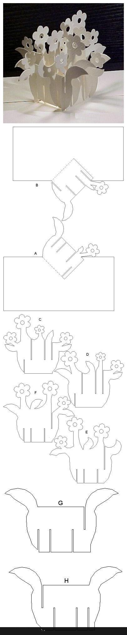 Открытки киригами для начинающих схемы и шаблоны 2
