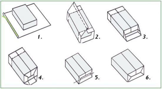 Как упаковывать подарки в упаковочною бумагу 250