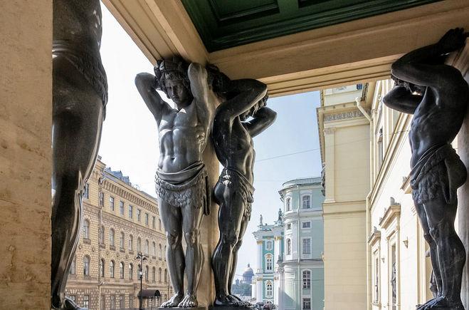 скульптура атлант