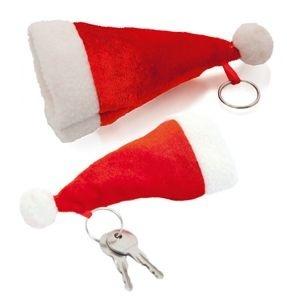 Брелок шапка Деда Мороза новогодний подарок своими руками