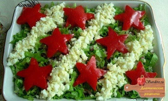 Оформление салатов к 23 февраля военная тема фото