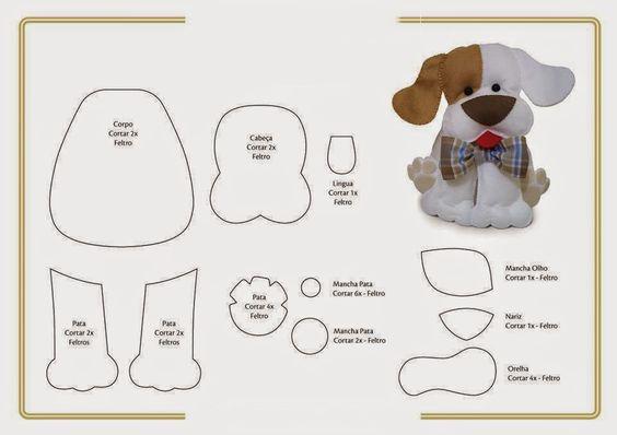 Схема собаки из фетра