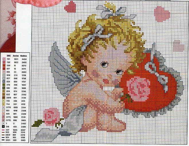 Звездный ангел схема вышивки крестом 43
