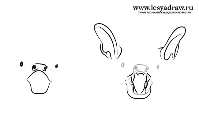 Как нарисовать летучую мышь карандашом поэтапно