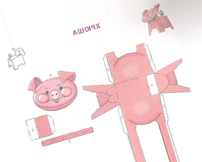 Как сделать свинью/ поросенка из картона своими руками?