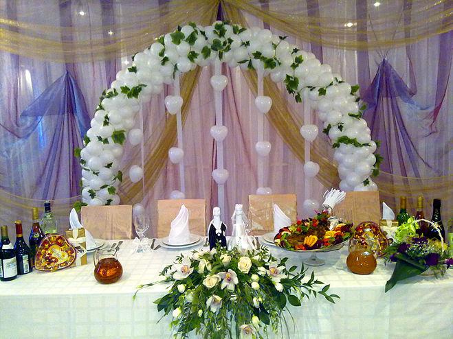 Арка из шаров на свадьбу