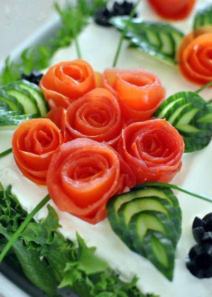 закуска-цветы