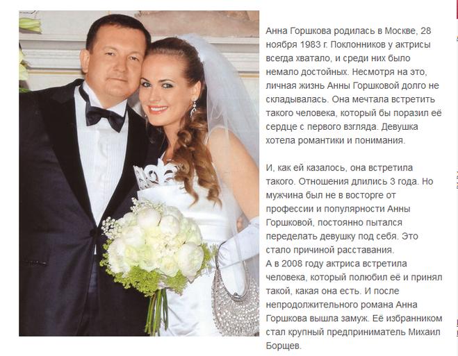 Анна Горшкова актриса  биография фото личная жизнь
