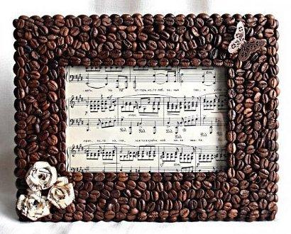 Фоторамки из кофейных зерен своими руками