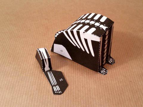 кот-скелетон на Хэллоуин схема мастер-класс сборки и детали