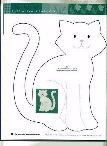 Аппликации котов из ткани своими руками