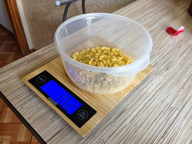 Сколько калорий в 100 гр макарон вареных