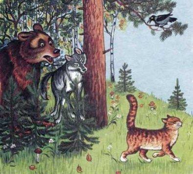 """Краткое содержание и план сказки """"Кот и лиса""""."""