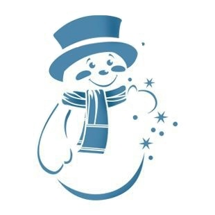 Схемы для украшения окна на новый год снеговиков
