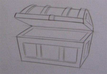 Как рисовать сундук поэтапно