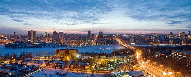 Красивый ночной Донецк