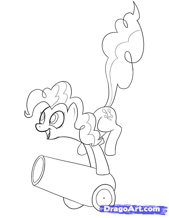 Как нарисовать пони Пинки Пай поэтапно