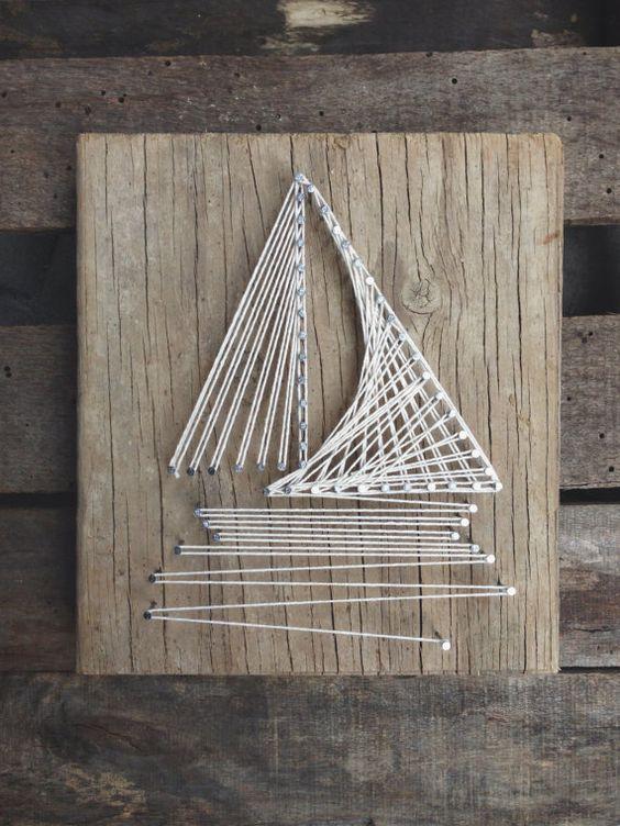 """поделка кораблик своими руками в технике """"стринг арт"""""""