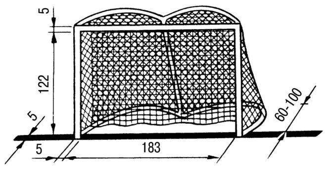 Какой размер ворот в хоккее с