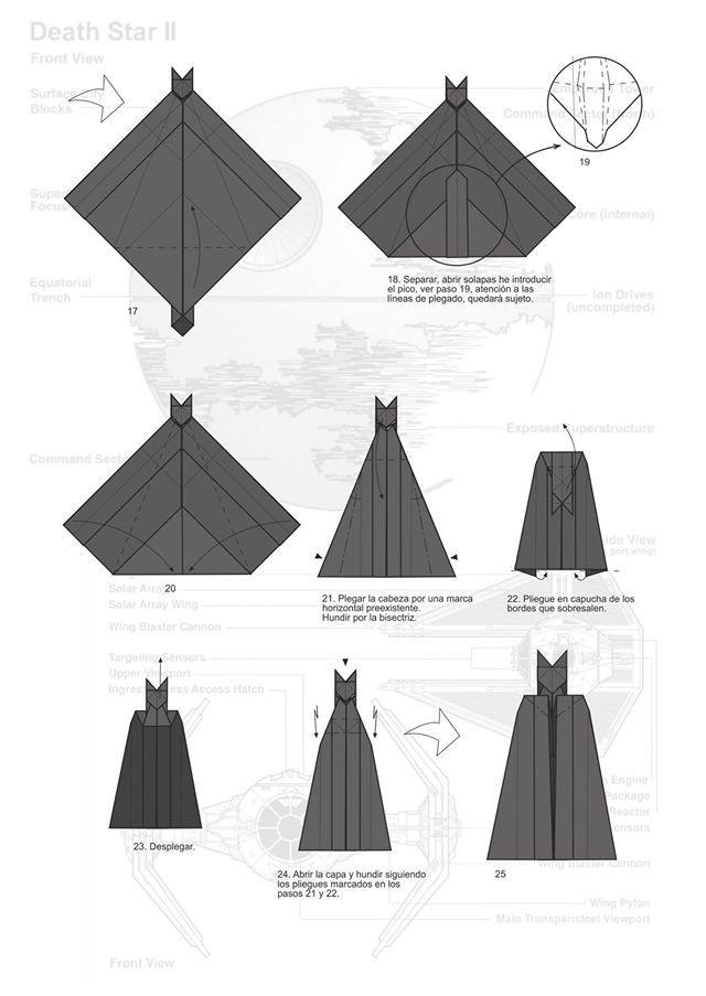 Дарт вейдер из оригами схема