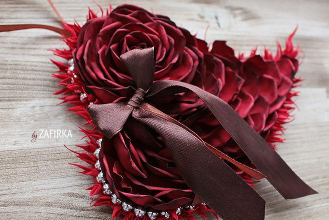 Валентинка-роза мастер-класс фото 14 февраля