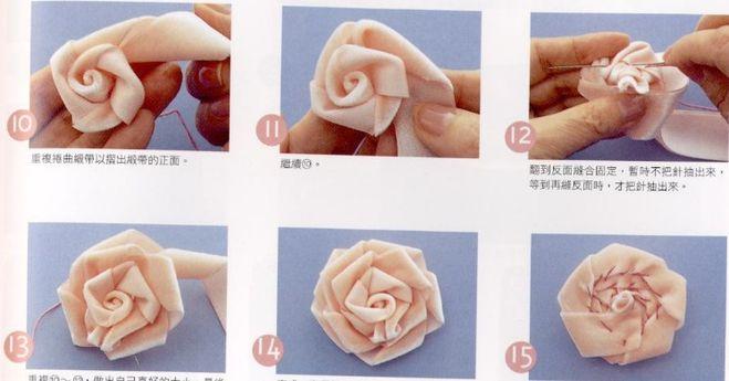 Как из ткани сделать цветок на платье из ткани