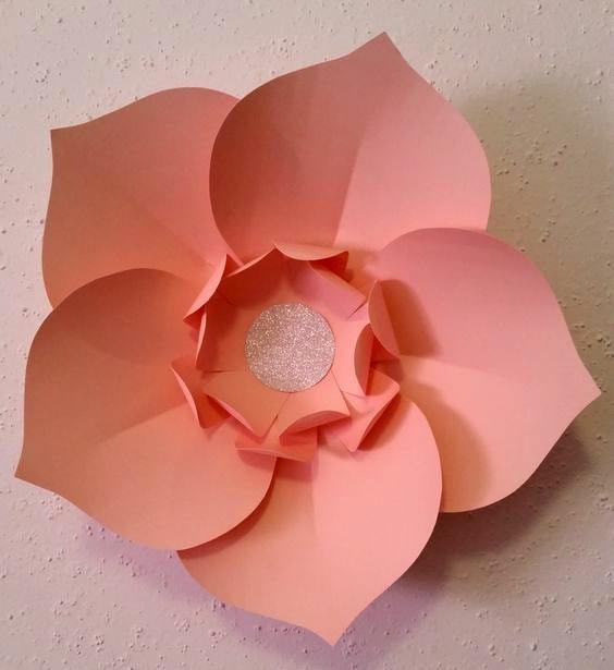 Большой цветок из бумаги своими руками из а4