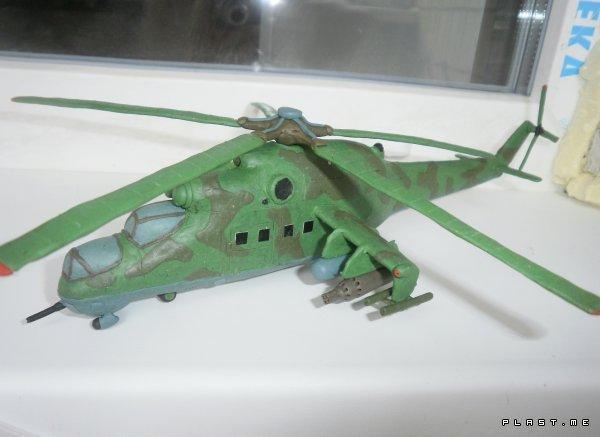 Вертолет из пластилина