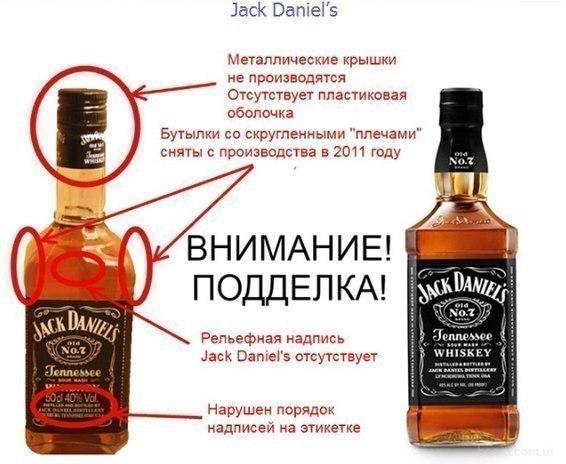 7e7b0f89a470 Как отличить оригинальный виски Джек дэниэлс от подделки