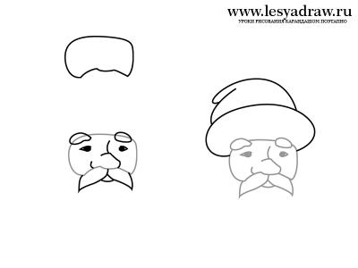 Как нарисовать лицо Деда Мороза на новый год? Белая Борода Png