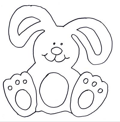 Рисунок шаблон зайца 131