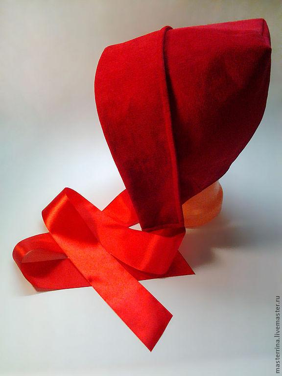 Шьем шапочку для Красной Шапочки Ярмарка Мастеров